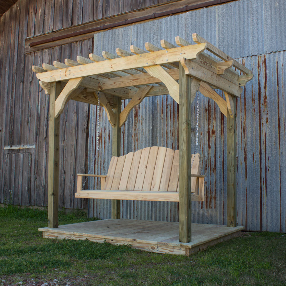 deck w mini swing creole pergola and product