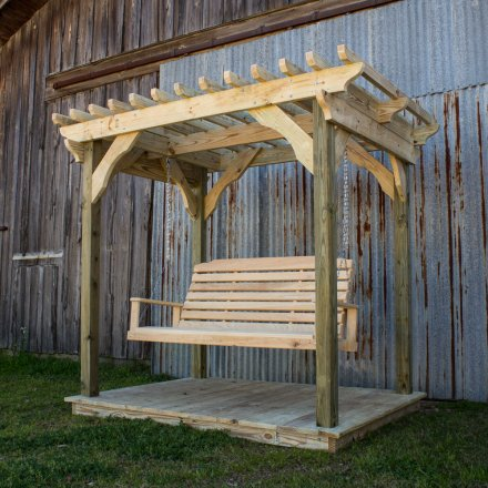 Mini Pergola w Lumbar Swing
