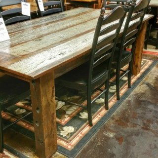 7'L Old Cypress Table @UL Store UL-144 SOLD