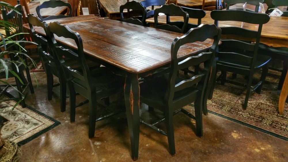 french table with company boards ul store ul 147 sold all wood