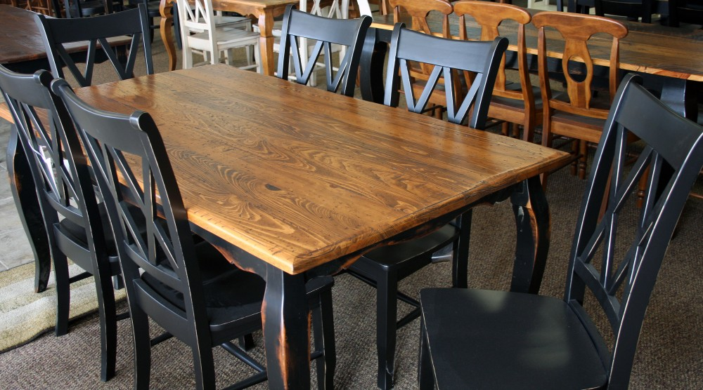 Thick Top French Leg Table Baton Rouge Br 195 Sold All