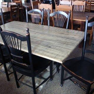 Farmhouse Pedestal Table @ Baton Rouge In Stock BR-198