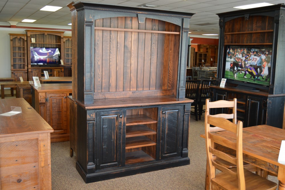 rustic empire center baton rouge sold br212 all wood furniture - Rustic Center