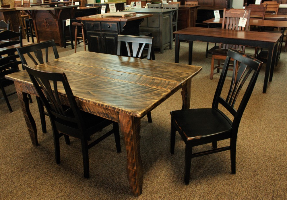 Saw Mark Sweet Gum Table Baton Rouge Br 203 Sold All Wood Furniture