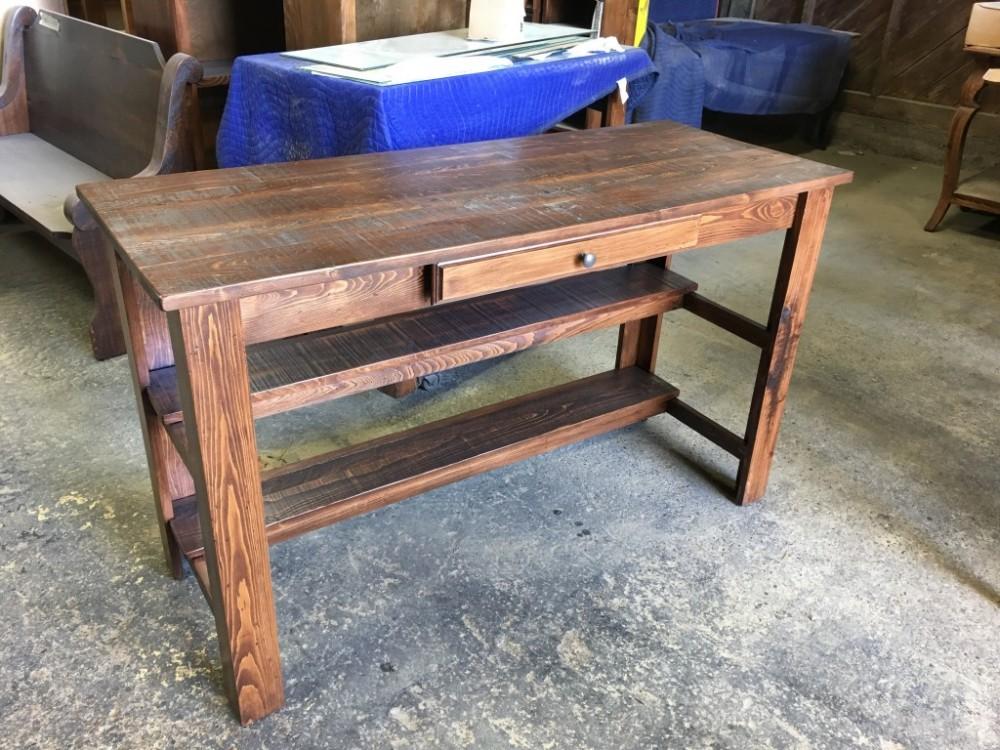 5 39 Carencro Pub Desk All Wood Furniture