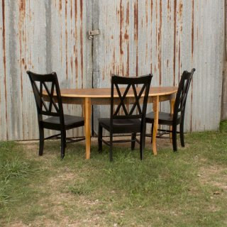 Barnwood Half Round Creole Table