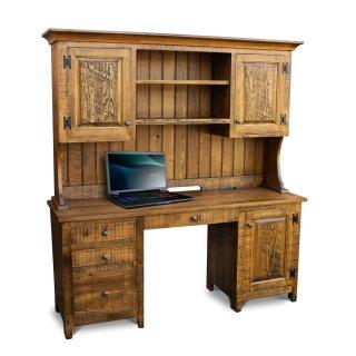 Rustic-Shaker-Desk-w-Hutch-Top