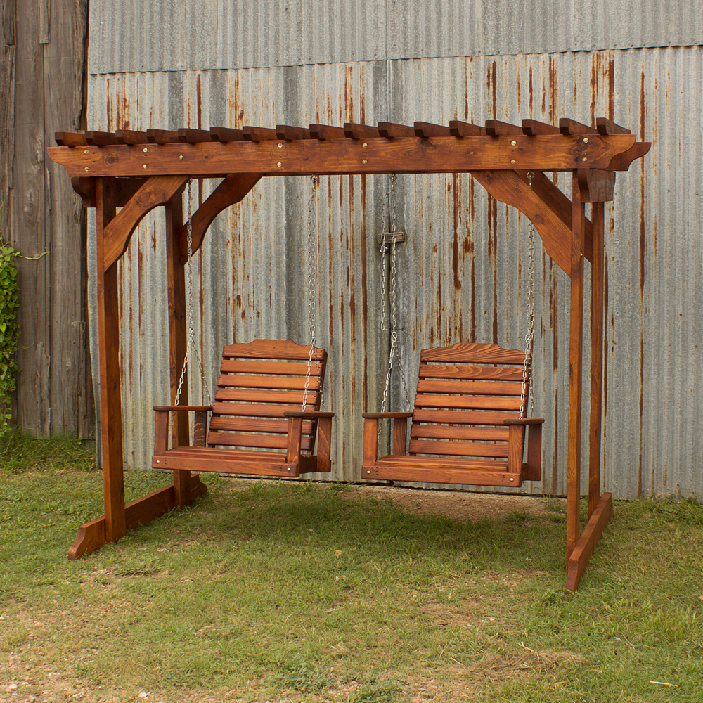 Treated Pine Arbor W Single Swings