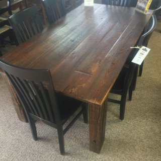 Barnwood Table w/ Original News Print Insullation @ Baton Rouge BR-225 SOLD