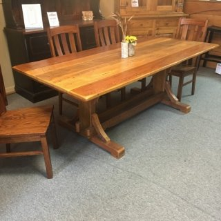 40″ x 7′ Cajun Timber Frame Table @ Pinhook PH-109 In Stock