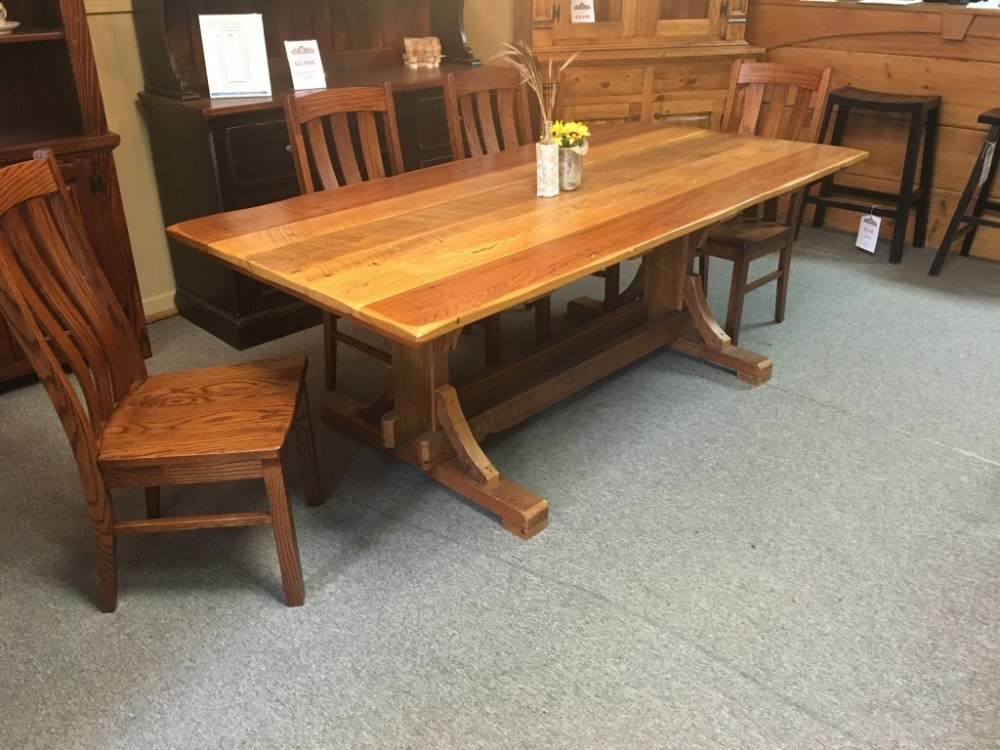 40 X 7 Cajun Timber Frame Table Ul Store In Stock Ul 109