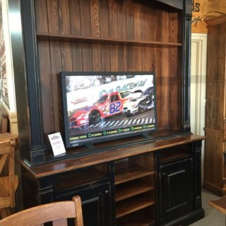 6′ 2 Pc Entertainment Center @ Pinhook 100 In Stock