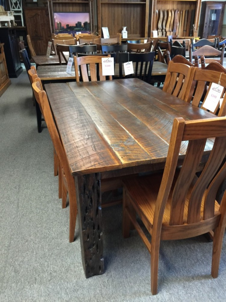 Barnwood Table Pinhook 102 In Stock All Wood Furniture