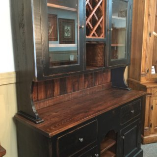 A – 101 Country Hutch W/ wine rack @ Pinhook 106 In Stock