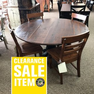 60″ Pedestal Table in Coffee w/ Cigar Base @ Baton Rouge BR-261