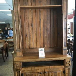 Fleur De Lis New Cypress Entertainment Center in Whisky @ Baton Rouge in Stock BR-245