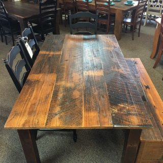 Burnt Pine Barnwood 4×4 Block Leg in Natural @ Baton Rouge BR-248 SOLD