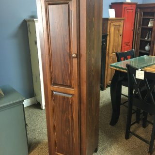 1 Door Pie Safe New Cypress in Aged Tobacco @ Baton Rouge in Stock BR-249