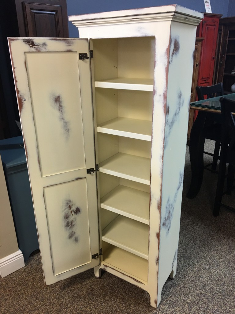 1 Door Pie Safe New Cypress In Antique White Baton Rouge In Stock Br 250 All Wood Furniture