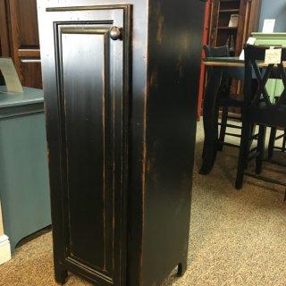 1 Door Pie Safe New Cypress in Antique Black @ Baton Rouge BR-252 SOLD