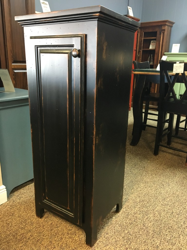1 Door Pie Safe New Cypress In Antique Black Baton Rouge Br 252 Sold All Wood Furniture