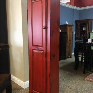 1 Door Pie Safe New Cypress in Red Over Black @ Baton Rouge BR-254 SOLD