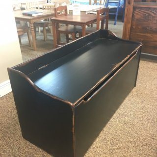 47″ Parawood Toy Chest in Antique Black @ Baton Rouge BR-256 SOLD