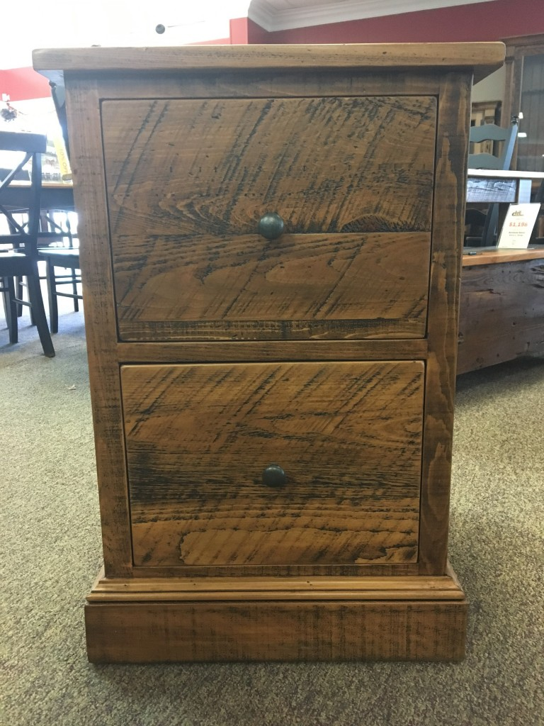 Rough Sawn New Cypress 2 Drawer File Cabinet In Whisky @ Baton Rouge BR 265  SOLD