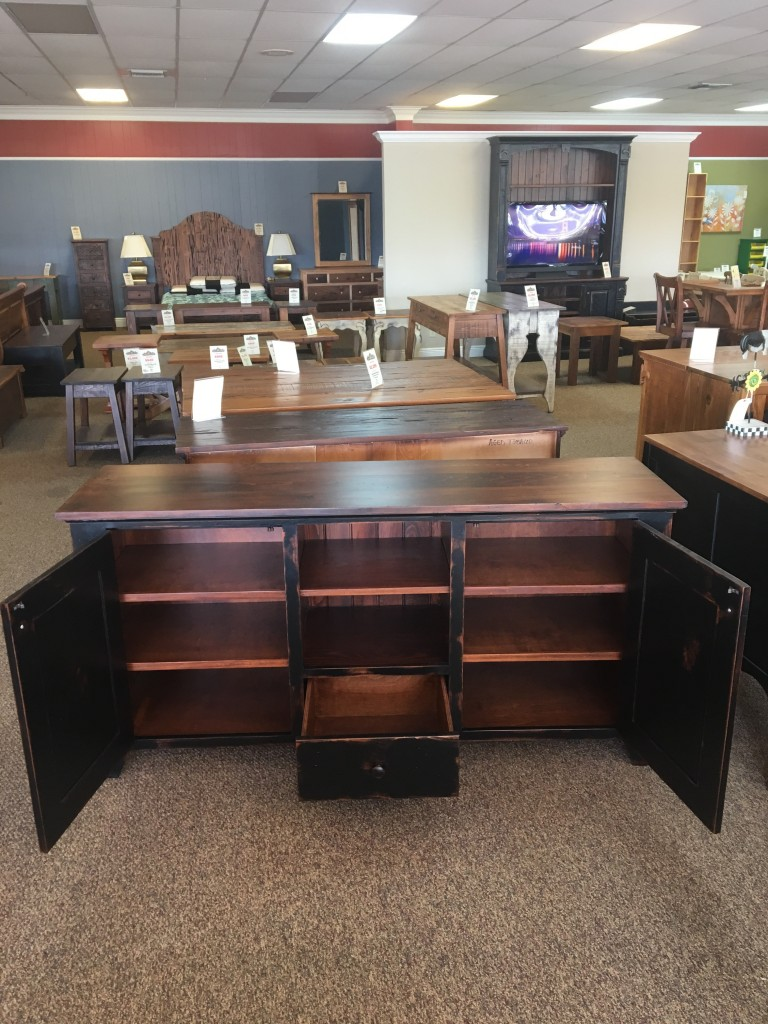 New Cypress Shaker Tv Stand In Coffee W Black Antique Base Baton Rouge Br 273 Sold All Wood
