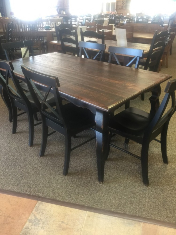 Sabre Leg Table Baton Rouge BR 222 SOLD ALL Wood Furniture