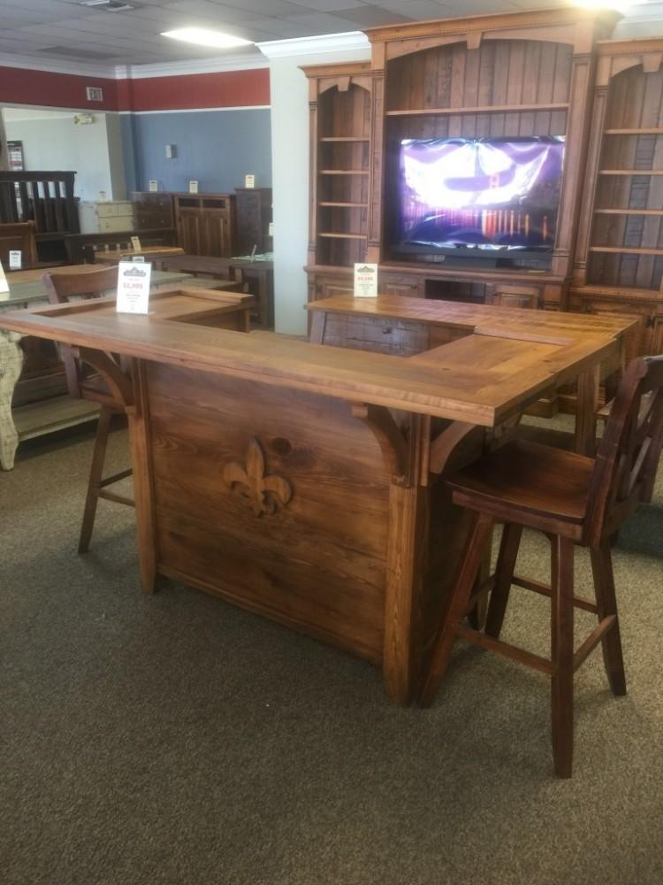 Fleur De Lis Bar Baton Rouge Br 223 Sold All Wood Furniture