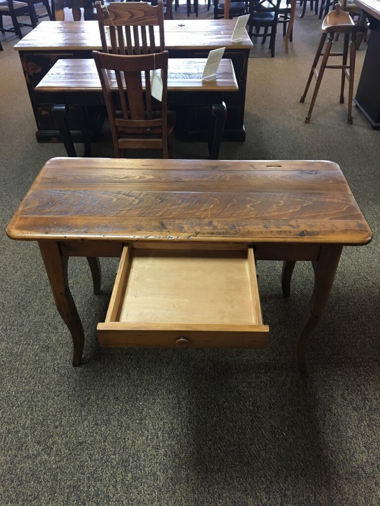 New Cypress Creole Style Writing Desk in Whisky Baton