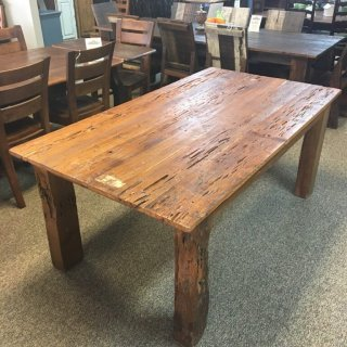 Gnarly Pecky Cypress Barnwood Table w/ 4″ x 4″ Beam Legs in Natural Barnwood @ Baton Rouge BR-278 SOLD