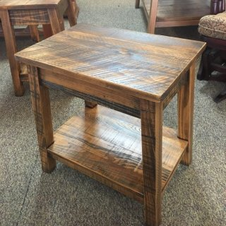 Rough Sawn New Cypress Small Bombay Table in Whisky @ Baton Rouge in Stock BR-279