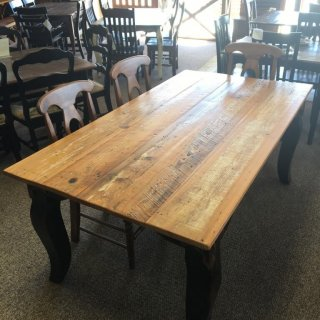 Barnwood Giant Fleur de Lis Table in Natural Barnwood w/ Antique Black Base @ Baton Rouge BR-282 SOLD