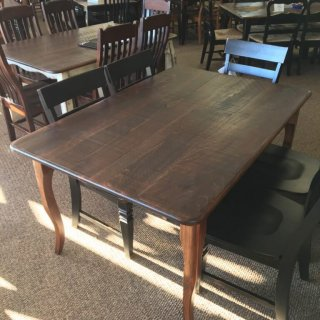 Rough Sawn New Cypress Creole Leg Table in Coffee @ Baton Rouge BR-286 SOLD