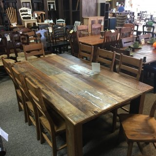 4″x6″ Block Leg Barnwood Table w/ White Inclusion in Natural @ Baton Rouge BR-288 SOLD