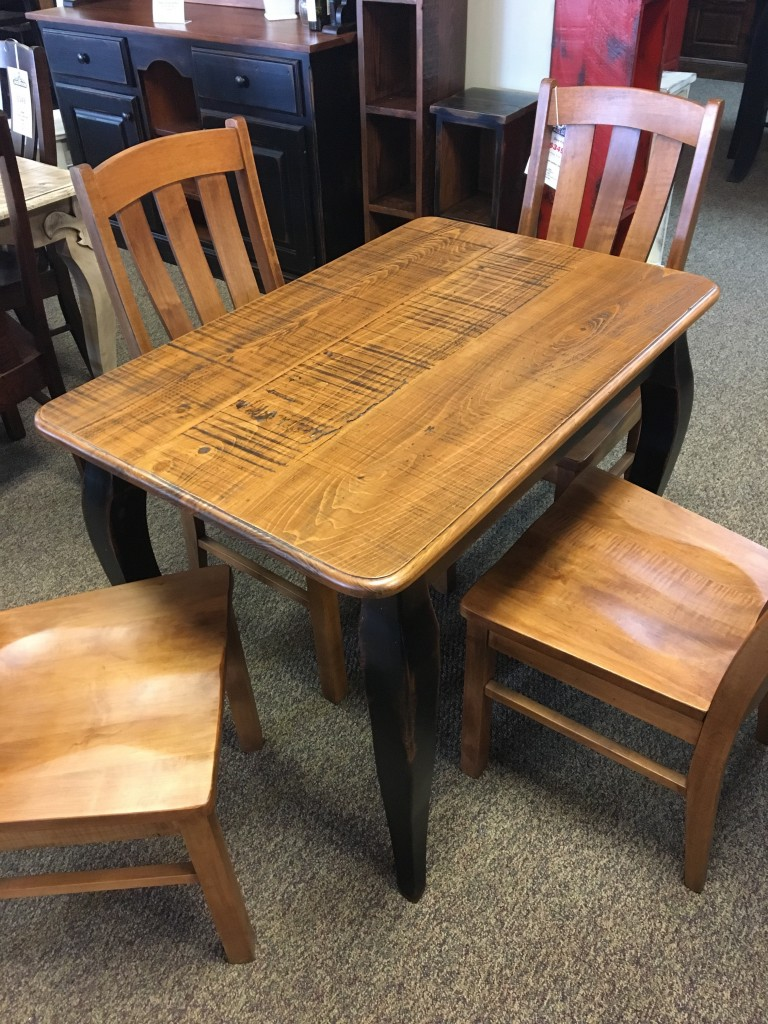 Rough Sawn New Cypress French Table In Whisky W Antique Black Base Baton Rouge Br 289 Sold