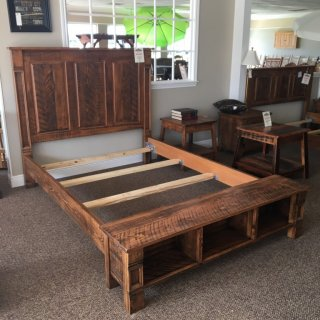 New Cypress Empire Bed Set w/ Cubbie Footboard in Queen w/ 60″ Headboard @ Baton Rouge BR-290 SOLD