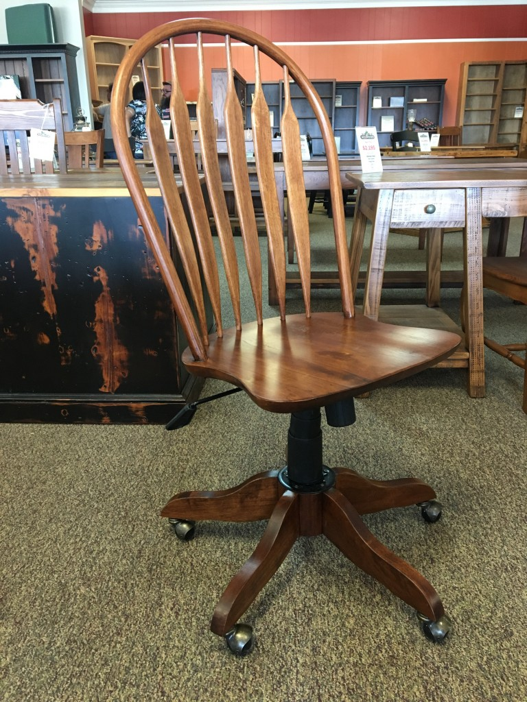 Office Rolling Desk Chair In Coffee Baton Rouge In Stock Br 294 All Wood Furniture