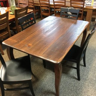 Rough Sawn New Cypress French Leg Table in Coffee @ Baton Rouge BR-297 SOLD
