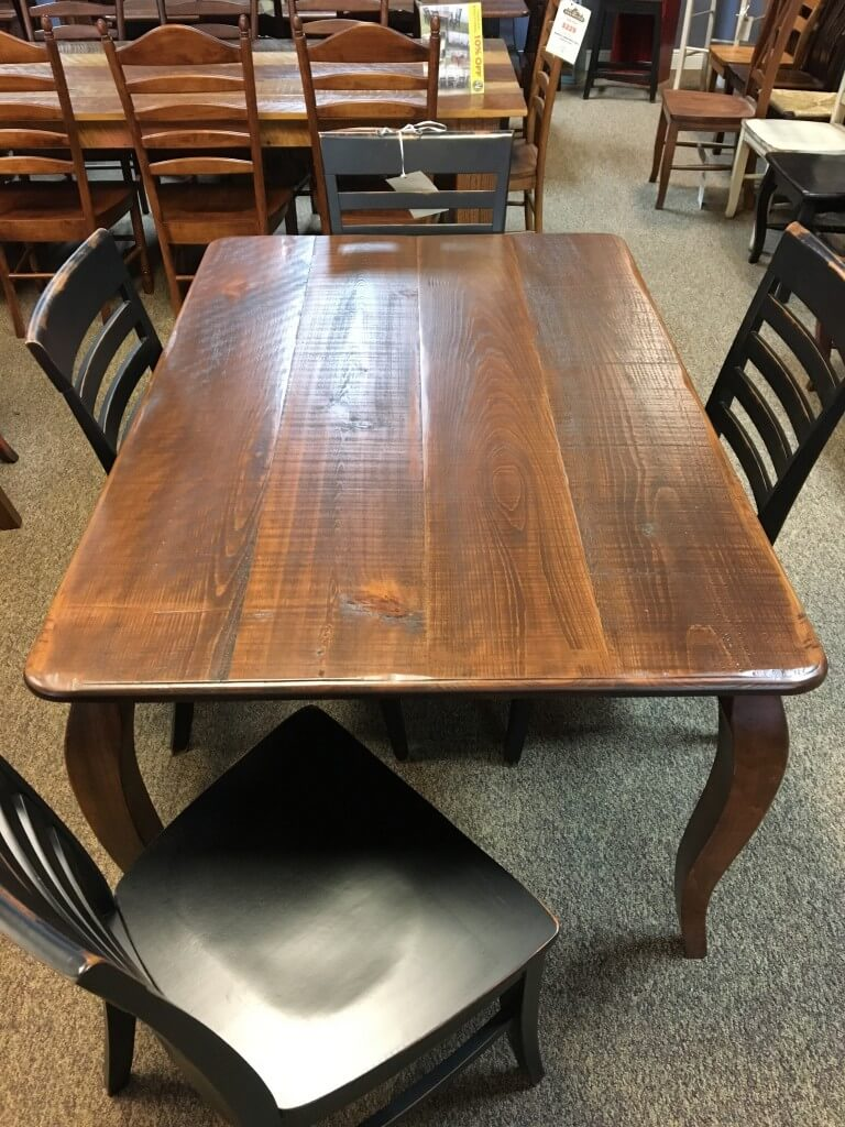 High Quality Rough Sawn New Cypress French Leg Table In Coffee @ Baton Rouge BR 297 SOLD