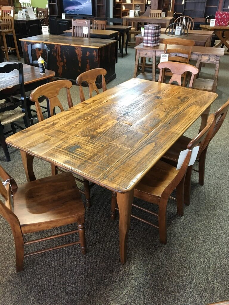 Rough Sawn New Cypress Split Top Creole Leg Table In Whisky Baton Rouge Br 301 Sold All Wood