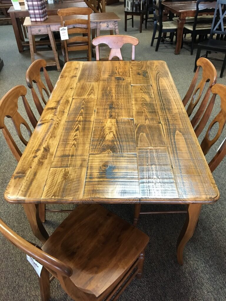 Rough Sawn New Cypress Split Top Creole Leg Table In