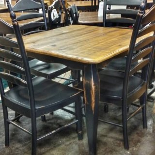 "40"" x 40"" French Leg Table @UL Store UL-197 Sold"
