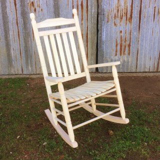 Double Oak Rocker with Knotch Spindels