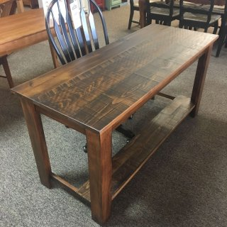 Rough Sawn New Cypress Classique Writing Desk w/ 1 Drawer in Coffee @ Baton Rouge BR-304 SOLD