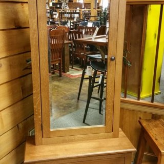 Oak Jewelry Cabinet @UL Store UL-201 In Stock