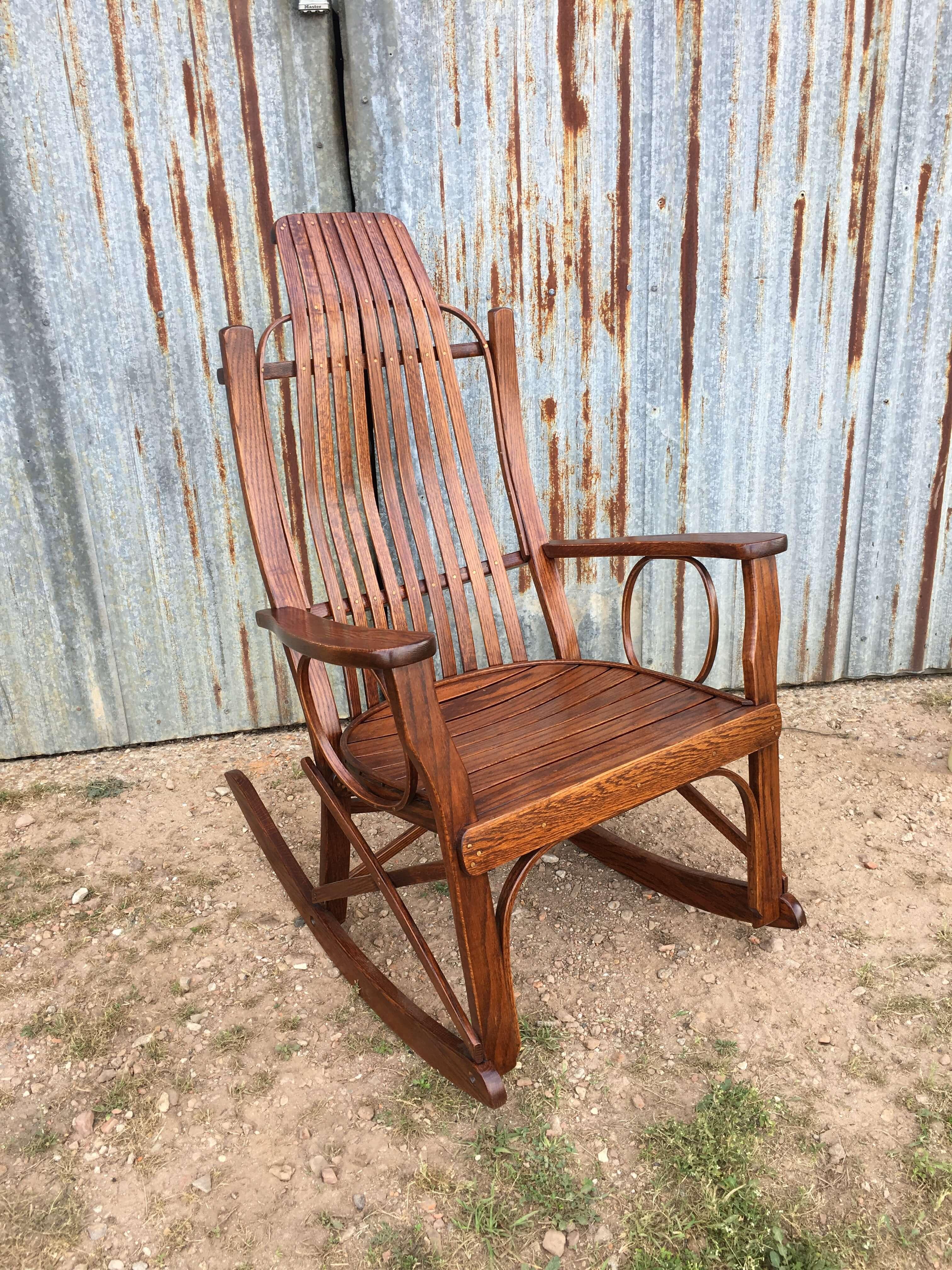 Bent Oak Amish Rocker