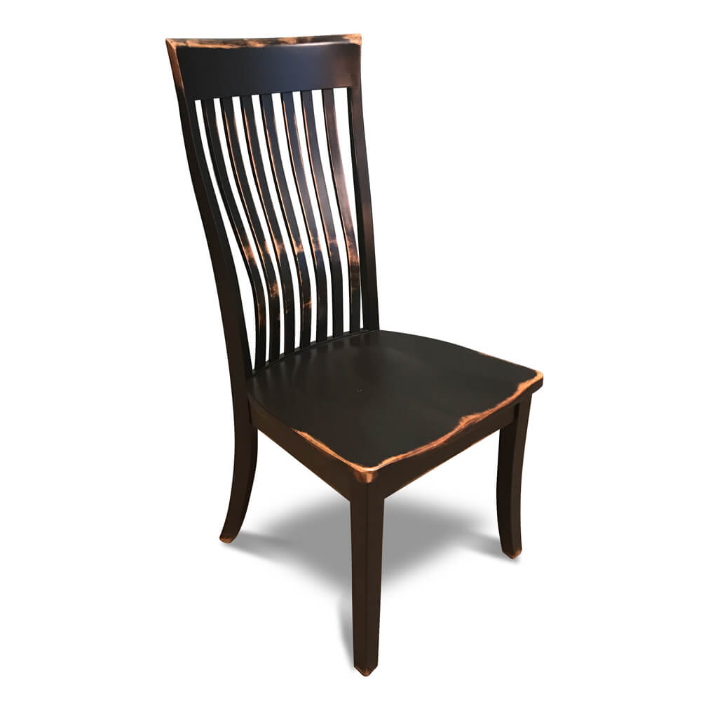 All Wood Dining Room Chairs: Deluxe Amish Lumbar Chair